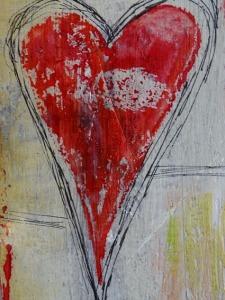 Herz gemalt altes Papier